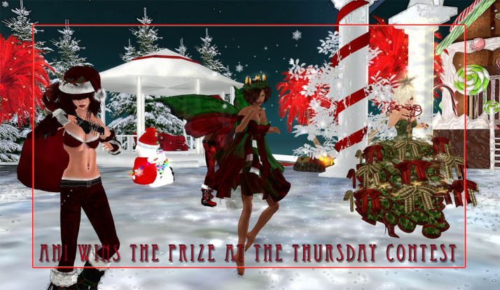 Ani wins the thousand linden prize for Thursdays Contest held weekly at Two Moon Paradise
