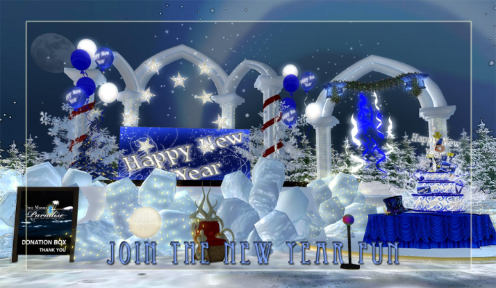 Join us to help celebrate the new year at Two Moon Paradise Come Throw Snowballs!