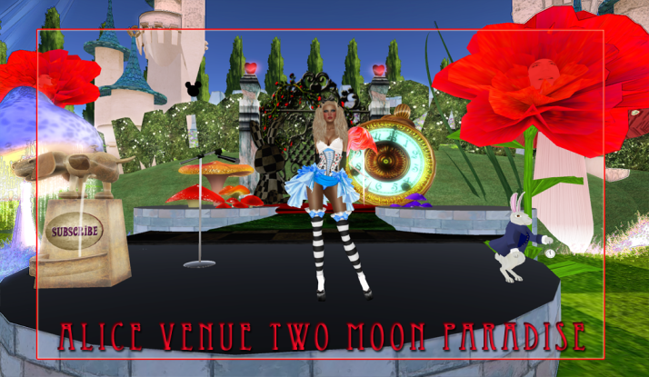 Visit the Two Moon Paradise Alice in Wonderland Venue Before it is gone on  March 1st 2013