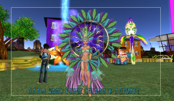 AMForte Clarity and Shiran Sabra at the Mardis Gras Venue Two Moon Paradise