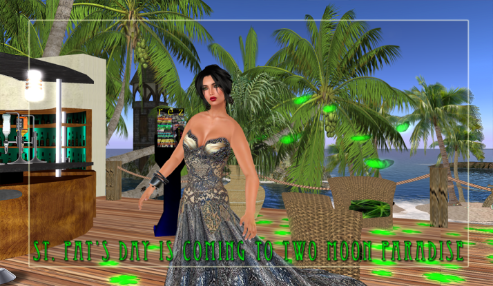 Shiran Sabra wearing Tres Beau invites you to join the Two Moon Paradise Crew for music and fun.
