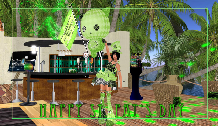Come Celebrate St. Patrick's Day all week at Two Moon Paradise