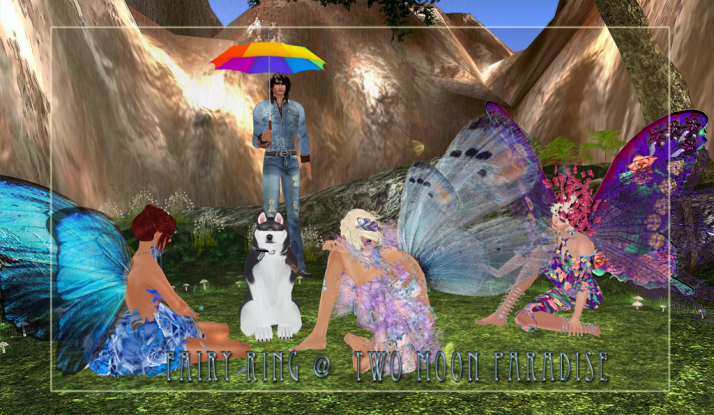 Relaxing in the rain at Butterfly Garden Fairy Ring Two Moon Paradise