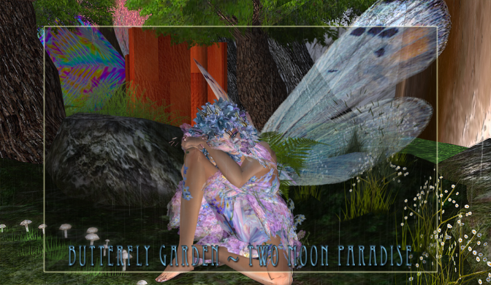 Enjoy a peace filled Sunday at the Fairy Rain Ring ~ Butterfly Garden Two Moon Paradise