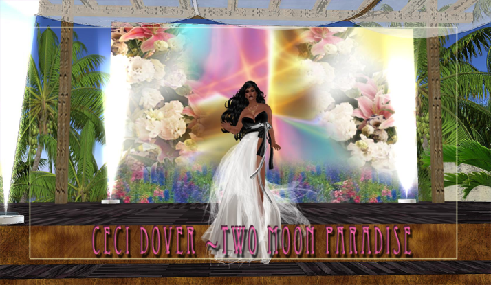 The lovely CeCi Dover plays Fridays at Two Moon Paradise ~ Dress up and join us.
