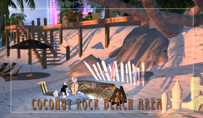 New seating on the beach by Coconut Rock