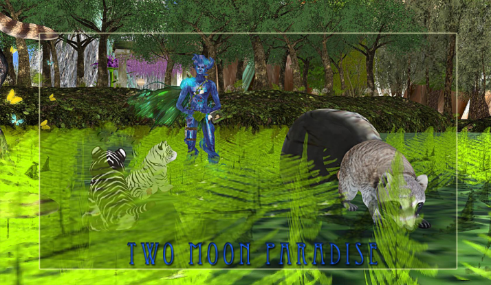 Fantasy Forest Two Moon Paradise where friendly creatures great and small can play
