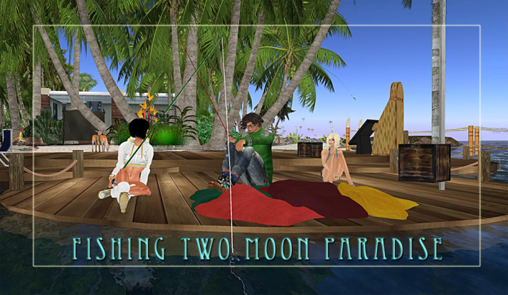 Fishing is just one of many fun things to do at Two Moon Paradise
