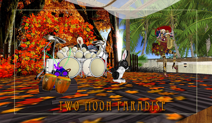 Farr, The Robots and Kellie and the Funky Feats on Tuesdays at Two Moon Paradise 5 PM SLT plus hop-in special appearances