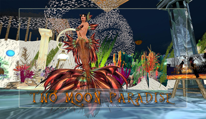 Mer Dancers in the Mer Garden at Two Moon Paradise on Tuesdays and Wednesdays