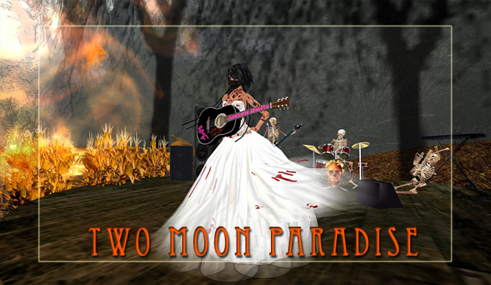 AMForte Clarity aka Zombie Bride plays Thursdays at Two Moon Paradise right before our weekly Costume Contest
