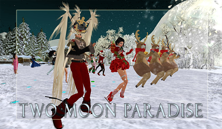 Secret joins Shiran and her Reindeer Herd for Thursday Contest Night at Two Moon Paradise