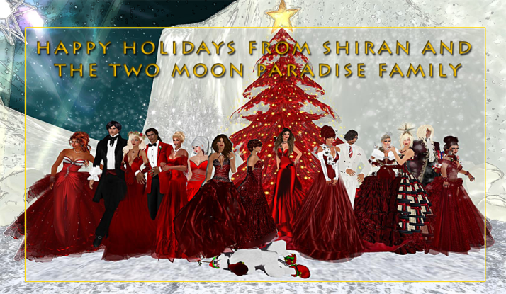 Shiran Sabra and the Two Moon Paradise Family Wish Everyone a Very Happy Holiday!