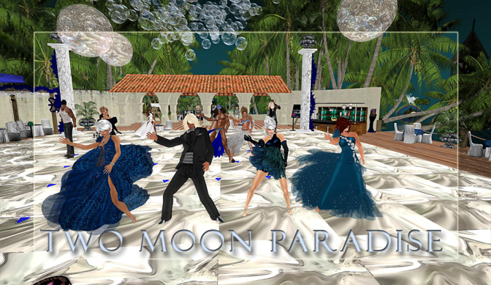 Thursday is themed contest day at Two Moon Paradise ~ Drake and LouLou show off their blues and silvers