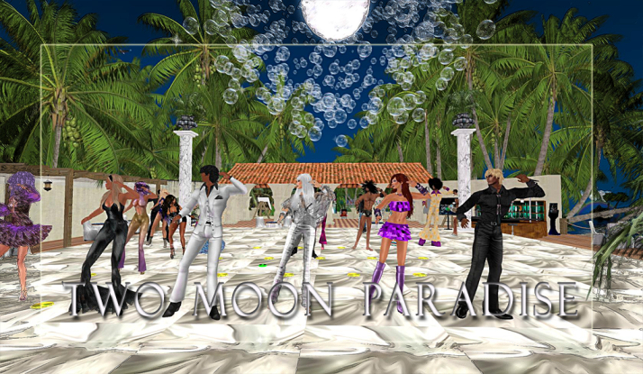 Costume / Themed contests on Wednesdays [Mer] and Thursdays at Two Moon Paradise ~ Winners Farr and Chaanz show us their disco moves
