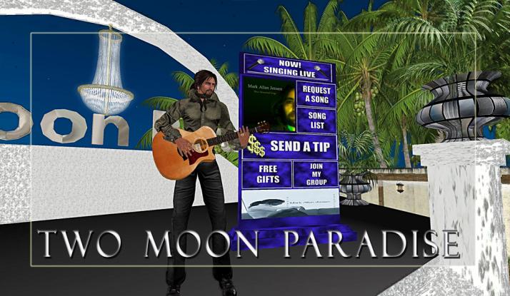 Mark Allan Jensen follows Lisa Brune Mondays at Two Moon Paradise