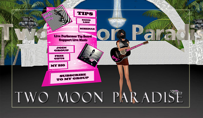 AMForte Clarity plays Two Moon Paradise  at 3 PM SLT