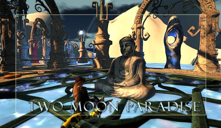 Sunday Meditation at the Two Moon Paradise Zen Garden
