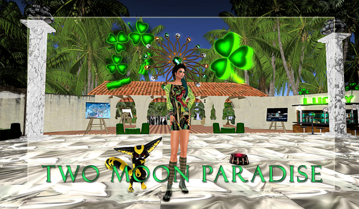 Happy Saint Patrick Day at Two Moon Paradise Please Join Shiran Sabra and the Two Moon Paradise Family:)