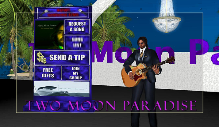 Join Mark Allan Jensen and Donn Devore on Mondays at Two Moon Paradise