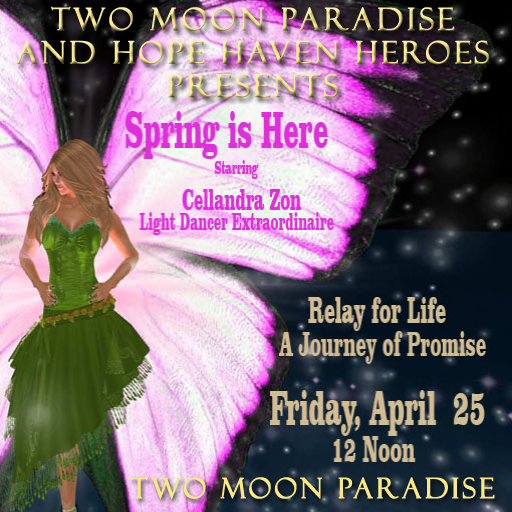 Please join Two Moon Paradise and Hope Haven Heroes for a special RFL Benefit Event Friday April 25th at Noon