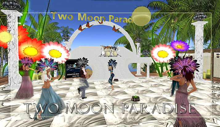 Farrokh Vavoom 1-3 PM SLT then Voodoo Shilton 3-4 PM SLT Sunday at Two Moon Paradise come shake your feathers:)