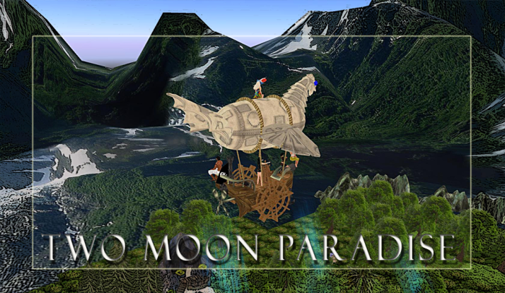 There is always adventure to be found at Two Moon Paradise ! Captain Shiran and her Chicken Ship Pirate Crew flying up to Fantasy Forest.