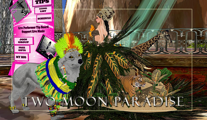 Come enjoy the Themed Contests at Two Moon Paradise and get your party animal gear on:)