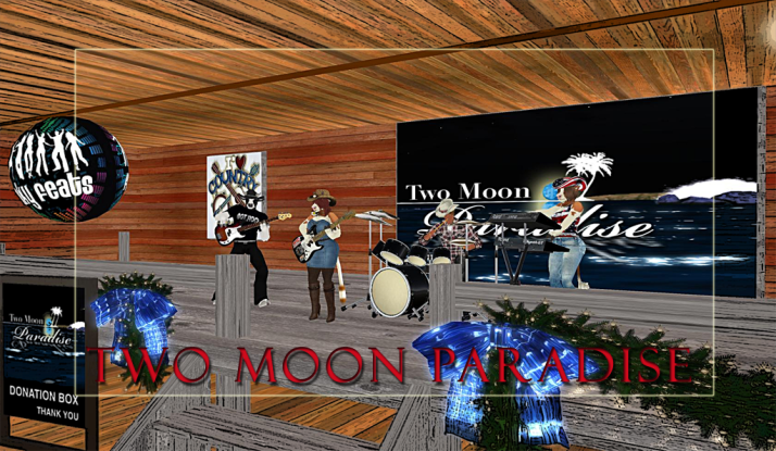 Join us at Two Moon Paradise for live music events and more Featuring  Lisa Brune, CeCi Dover, Farrokh Vavoom, Samm Qendra, AMForte Clarity, AM Quar, Max Kleene, Voodoo Shilton, Shay Sunnyside and The Funky Feats