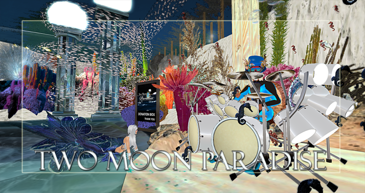 Join us at Two Moon Paradise for live music events and more Featuring  Lisa Brune, CeCi Dover, Farrokh Vavoom, Russell Eponym, Samm Qendra, AM Quar, Max Kleene,  Shay Sunnyside and The Funky Feats