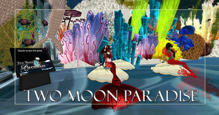 Winners Mako and Peaches Along with live music Two Moon Paradise has themed contests for both Mers and Landwalkers weekly. Come Explore The New Mer Cave Area
