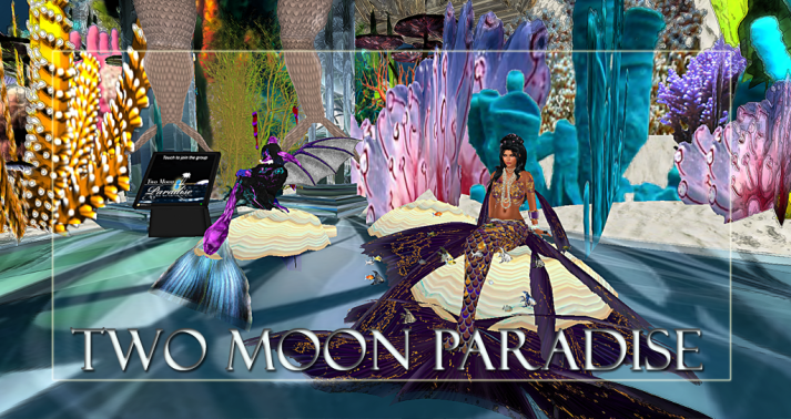 Winners Washa and Mari Along with live music Two Moon Paradise has themed contests for both Mers and Landwalkers weekly. Come Explore The New Mer Cave Area