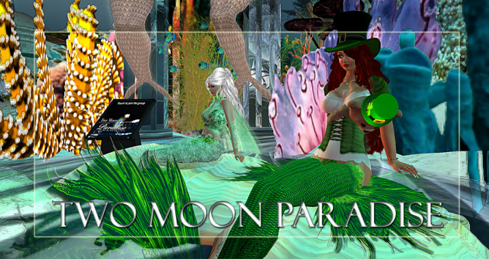 Winners Queen and Aster Two Moon Paradise has themed contests for both Mers and Landwalkers weekly. Come Explore The New Mer Cave Area