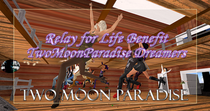 Special RFL Country Barn Dance ~ Two Moon Paradise Dreamers Time: 04/14/2015 05:00 pm Duration: 2 hours Location: Two Moon Paradise on Two Moon Paradise Special Barn Dance benefiting the RFL in Second Life Two Moon Paradise Dreamers
