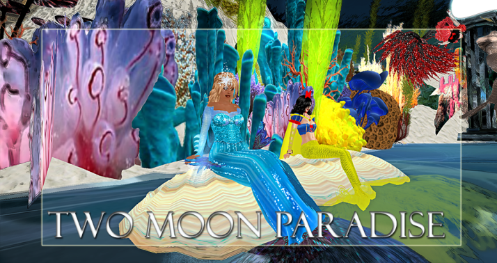 Winners Jade & Eli Two Moon Paradise has themed contests for both Mers and Landwalkers weekly. Come Explore The New Mer Cave Area