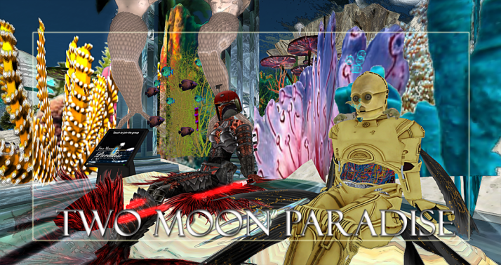 Winners Aster and Chigs  Two Moon Paradise has themed contests for both Mers and Landwalkers weekly. Come Explore The New Mer Cave Area