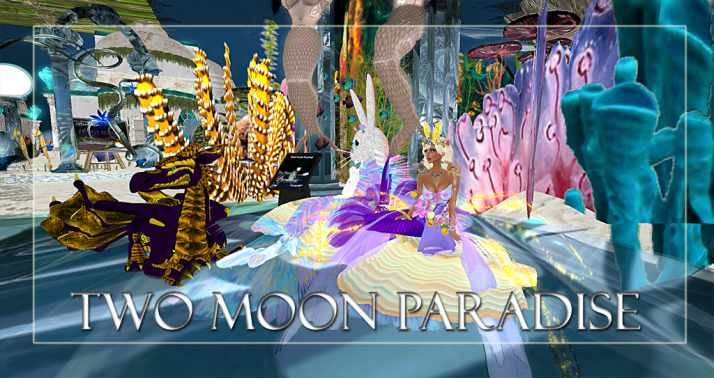 Winners Aster & LouLou Two Moon Paradise has themed contests for both Mers and Landwalkers weekly. Come Explore The New Mer Cave Area