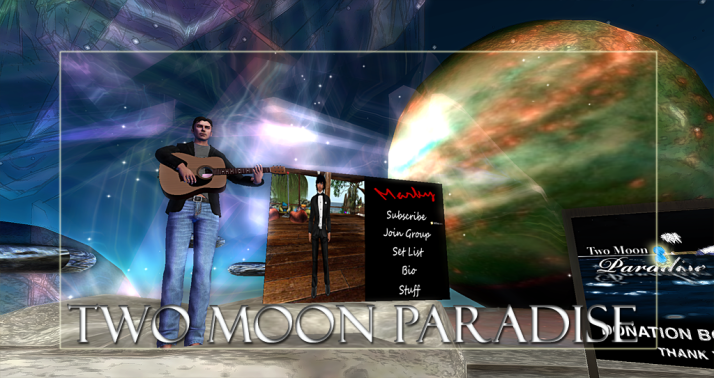 Join us at Two Moon Paradise for live music events and more Featuring Lisa Brune, CeCi Dover, Farrokh Vavoom, AM Quar, Russell Eponym, Max Kleene,Doug Lind Marky Helstein, Shay Sunnyside and The Funky Feats