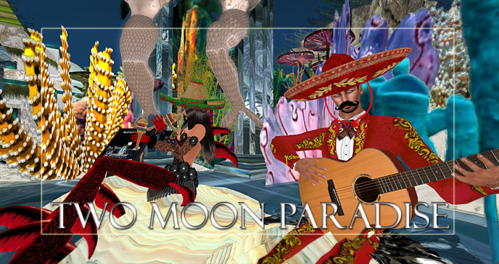 Winners Xenobia and Bud Two Moon Paradise has themed contests for both Mers and Landwalkers weekly. Come Explore The New Mer Cave Area