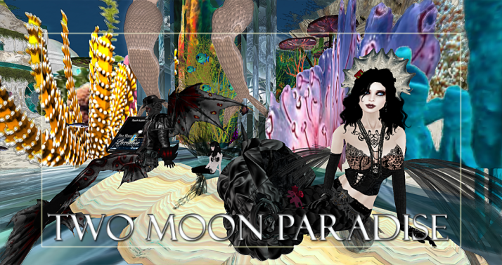 Winners Sav, Vala and LouLou Two Moon Paradise has themed contests for both Mers and Landwalkers weekly. Come Explore The New Mer Cave Area