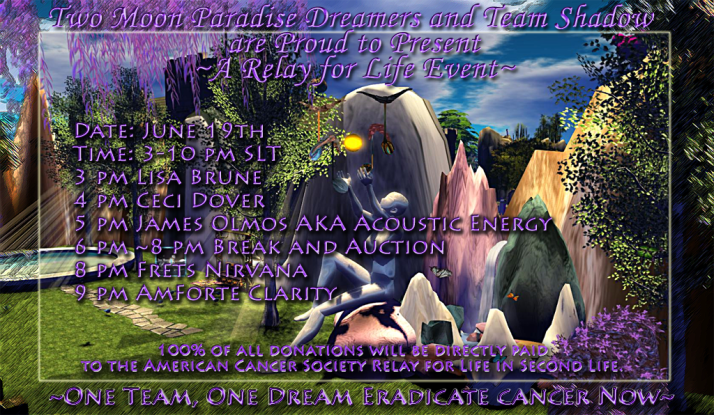 Relay For Life Second Life June 19th Event