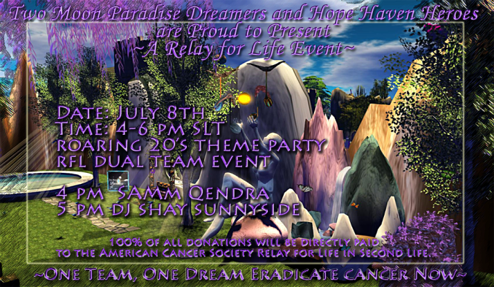 RFL Dual Team Event TMP Dreamers and Hope Haven Heroes Roaring 20's with Samm Qendra and DJ Shay Sunnyside
